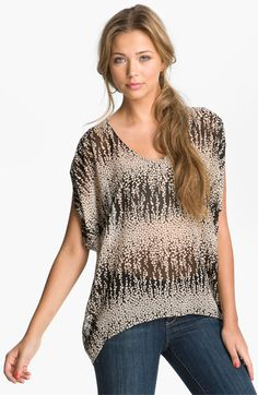 Lush Print Oversized Tee (Juniors) available at #Nordstrom