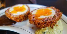 Scotch egg, HP Sauce, Caper Relish