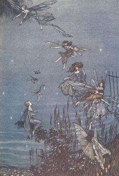 """Arthur Rackham - illustration from """"Peter Pan in Kensington Gardens"""" (by sofi01)"""