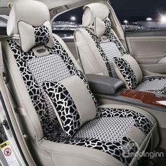 New Arrival High Quality Luxury Gray Leopard Print Seat Covers - beddinginn.com
