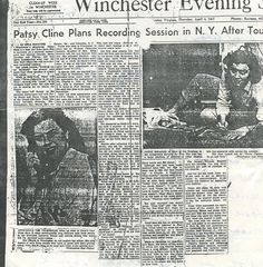 Patsy Cline news article