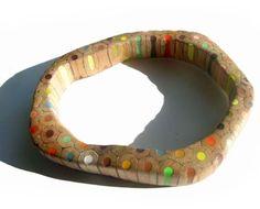 Italian designer Maria Cristina Belluci makes jewelry from colored pencils