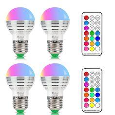 Superisparmio's Post Lampade Colorate   4 Lampadine E27 Colorate  attacco Edison Screw Lampadine LED RGB Dimmerabili con 12 scelte di colore Telecomando incluso per Patio/Bar/Decorazione Lighting Ambiance  In offerta a solo 14.40   http://ift.tt/2vvBXOv
