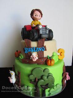 Doces Opções: O Gustavo de trator no seu 3º aniversário Cake, Desserts, Design, Food Cakes, Agriculture, Pie Cake, Tailgate Desserts, Pastel, Cakes