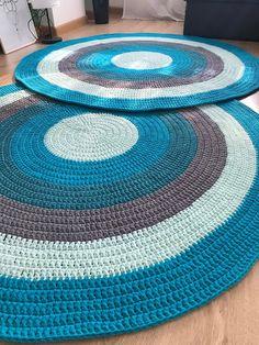 Second Hand Red Carpet Runner Green Carpet, Beige Carpet, Diy Carpet, Rugs On Carpet, Crochet Mat, Crochet Carpet, Crochet Rug Patterns, Cotton Crochet, Round Rug Nursery