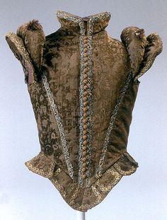Silk velvet doublet 1570-80.