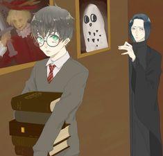 Harry Potter Animé, Harry Potter Universal, Snape Harry, Anime Character Drawing, Drarry, Anime Characters, Fictional Characters, Fantastic Beasts, Hogwarts