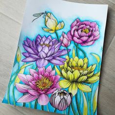 Botanica  #delineo #carandache #neocolor #lyra #aquarelle #watercolor #flowers #nature #nenuphar #waterlily #blue #pink #poster #libellule #dragonfly #firsttry #color #coloringbook #adultcoloring #zen #fun  Follow me on :  Facebook : http://www.facebook.com/sundaymorningcreationscolorie  Youtube : http://www.youtube.com/c/sundaymorningcreations