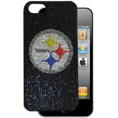 """Checkout our #LicensedGear products FREE SHIPPING + 10% OFF Coupon Code """"Official"""" Pittsburgh Steelers iPhone 5 Crystal Snap on Case - Officially licensed NFL product Licensee: Siskiyou Buckle Fits iPhone 5/5S phones Snap on protective case Shimmer and shine your love of the game with this sparkling case Pittsburgh Steelers logo - Price: $20.00. Buy now at https://officiallylicensedgear.com/pittsburgh-steelers-iphone-5-crystal-snap-on-case-f5gl160b"""