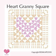 Heart Granny Square Crochet Pattern….and a CAL!