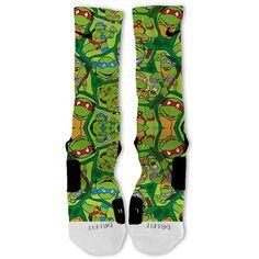 Ninja Turtles Party Customized Nike Elite Socks by FreshElites