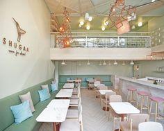 Shugaa:heladería verde y rosa en Bangkok - diariodesign.com