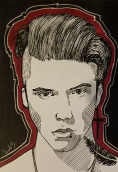 Andy Black cuz why not #fan #fanart #kpop #kpopfanart #kpopfan #illustration #drawing #pencil #art #dippen #artwork #design #portrait #color #ink #markers #copicmarkers #lineart #lines #andybiersack #andyblack #andysixx #blackveilbrides
