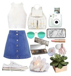 """Casual day out"" by zoemoecker ❤ liked on Polyvore featuring Glamorous, Topshop, Converse, Urban Decay, CB2 and Charlotte Tilbury"