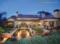 El Dorado Hills, CA - Old world charm and luxury living offered by The Pat Seide Group | This backyard and pool is absolutely beautiful