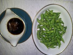 Edamame This dish is great with Age Tofu and black rice. My dear friend Elise introduced this dish to me.
