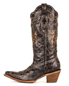 RAIN BOOTS! Ladies Black Lizard Western Cowboy Boots and Rain and