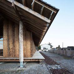 RAMDAM, Emilie Gravoueille · Reception Pavilion for a Sawmill