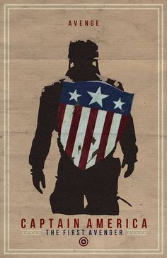 Captain America Film Poster via Etsy