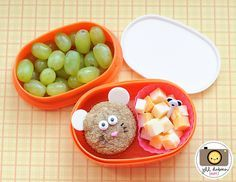 Cute mouse muffin bento