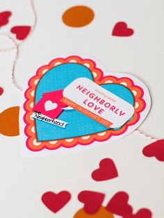 Printable valentines from The Neighborhood #letsneighbor