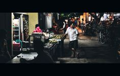 Late Night Street Scene Gili Trawangan