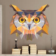 Cabeza de búho origami - VINILOS DECORATIVOS #origami #buho #vinilodecorativo…