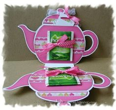 Tea cards Tea Party Crafts, Tea Party Favors, Party Drinks, Craft Party, Girls Tea Party, Tea Party Birthday, High Tea Decorations, Hot Wheels Party, Coffee Cards