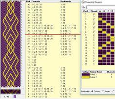 20 tarjetas, 2 colores, repite cada 24 movimientos // sed_1085 diseñado en GTT༺֍