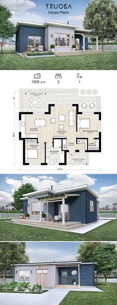 46 Best 1 bedroom house plans images in 2019