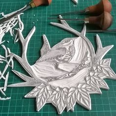 Carved and ready to print lino block of wren by Krafty Koffeedoff Lino Art, Linoleum Block Printing, Stamp Carving, Handmade Stamps, Linoprint, Stamp Printing, Stencil Painting, Linocut Prints, Illustrations