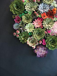 Handmade felt succulents.