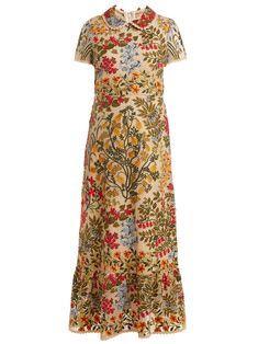 Floral-embroidered macramé dress | REDValentino | MATCHESFASHION.COM US