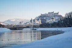 Winter in Salzburg, Austria Salzburg Austria, Virginia Beach, Order Prints, My Images, San Francisco Skyline, New York Skyline, Online Shipping, Instagram, Winter