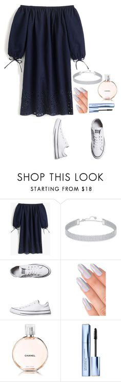 """:)"" by hannahdowns14 on Polyvore featuring J.Crew, Swarovski, Converse, Chanel and Estée Lauder"