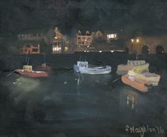 SDEAHOUSES AT NIGHT Seahouses harbour is transformed at night by the warm and welcoming lights of the town. This limited edition print was made from an original acrylic painting on canvas. Format: Limited edition Giclee printed on Epson Enhanced Matt 192gsm Print size: 25 x 30cm Mounted size: 43 x 45cm FREE UK mainland standard delivery on all orders
