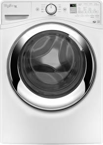 Whirlpool - Duet 4.3 Cu. Ft. 10-Cycle High-Efficiency Steam Front-Loading Washer - White - Larger Front