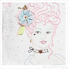 Sublime Stitching - Marie Antoinette Embroidery Pattern from Sublime Stitching