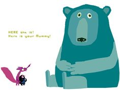 A bit lost: Chris Haughton Art And Illustration, Character Illustration, Chris Haughton, Kids Library, Book Posters, Bear Art, Art Graphique, Kids Prints, Freelance Illustrator