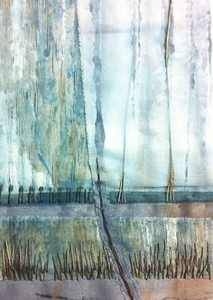 The work of Helen Terry, one of the artists featured in issue 4 of the… Textile Fiber Art, Textile Artists, Creative Textiles, Creative Art, Collages, Collage Art, Art Alevel, Artist Sketchbook, Altered Art