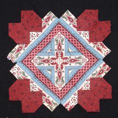 Lucy Boston block 29 by Muriel for the POTC Blog Along at Little Quilts