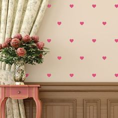 Confetti Polka Dots Wall Decal - pretty heart decals