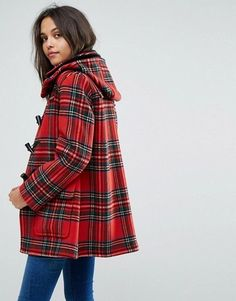Gloverall Exclusive Check Duffle In Dress Gordan Tartan at ASOS. Tartan Plaid, Tartan Mode, Tartan Dress, Plaid Outfits, Fall Outfits, Blazer, Tartan Fashion, Mode Boho, Tweed