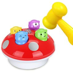 Simbable Kidz Sports Toys Light-Up and Vocal Baby Toys Learning and Education Noise Maker Toys Knock On Music Hammer Game
