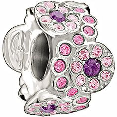 Daisy Bouquet - Pink and PurpleJust like flowers plucked from the garden, the Daisy Bouquet bead adds whimsy and color to your jewelry. The floral design sparkles in pink and purple crystal.