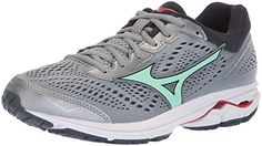 pick up 17e4a eeec1 Mizuno Women s Wave Rider 22 Running Shoe, Trade Winds Teaberry, 8 B US