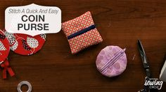 When attempting to stitch over a zipper, as needed in this project, it is always best to use the hand wheel when stitching over a zipper with metal teeth. http://www.nationalsewingcircle.com/video/stitch-a-quick-and-easy-coin-purse-using-fabric-scraps-007540/?utm_content=buffer02830&utm_medium=social&utm_source=pinterest.com&utm_campaign=buffer #LetsSew