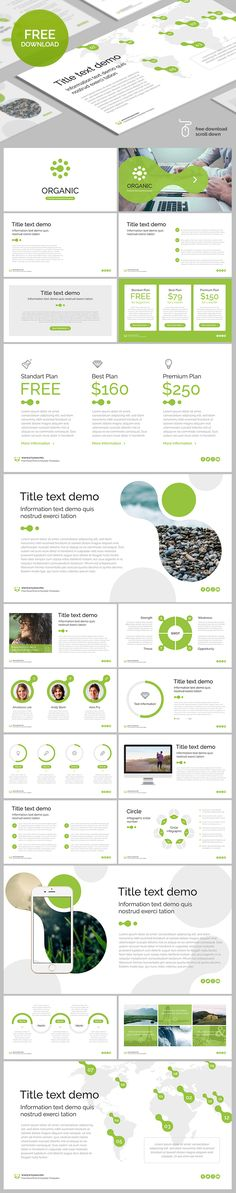 "Free PowerPoint template ""Organic"""