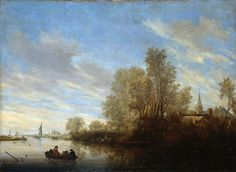 Ruysdael van Salomon River view Sun