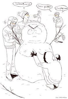 The Boys ~ snowman XD